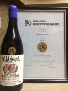 Awarded a gold in the Women's Wine Awards